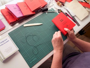 Vicky sews the book @ Wooli Research & Study Centre