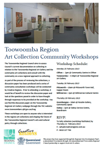 TRC Art Collection Community Workshops Flyer