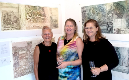 Julie Barratt with Yvonne and Maaret